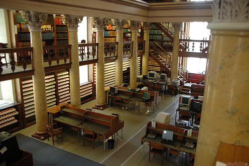 Leeszaal Nationale Bibliotheek Finland